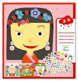 Djeco Djeco Create with Stickers - Faces