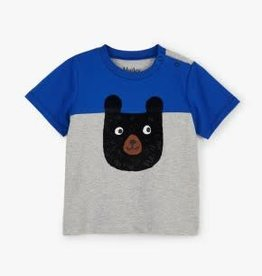 Hatley Hatley Colour Block Bear Baby Tee
