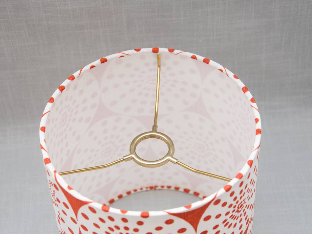 Kreatelier Lamp shade Round Circles in Orange