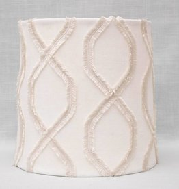 Kreatelier Lamp shade Tapered Fringe in Cream
