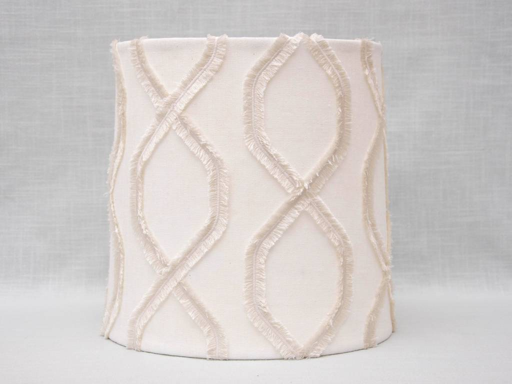 Kreatelier Lamp shade Tapered Fringe in Cream