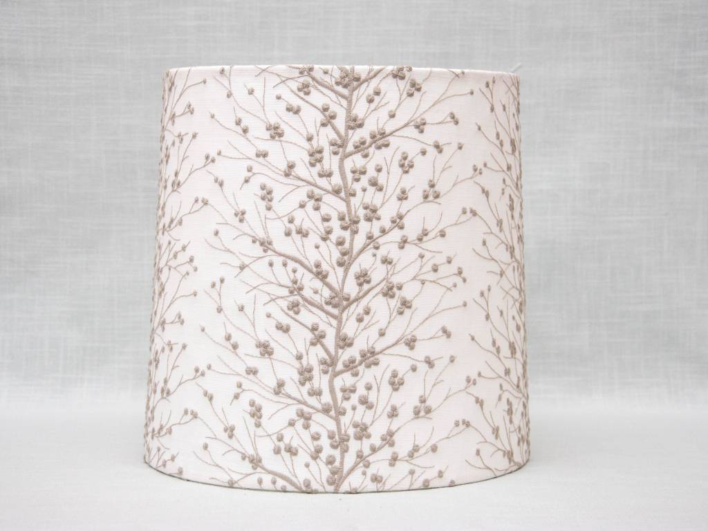 Kreatelier Lamp shade Tapered Embroidered Branches in Grey