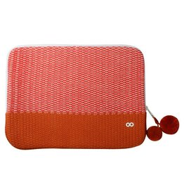 Verloop Crosshatch Laptop Case Red