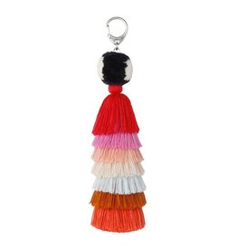 Verloop Tassel Bag Charm Pink