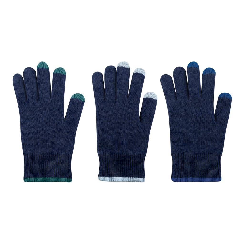 Verloop Pair and Spare Touchscreen Gloves in Navy