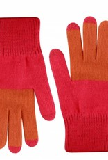 Verloop Colorblock Touchscreen Gloves Coral Pink