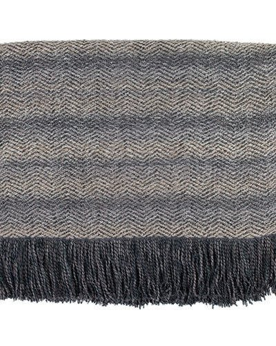 Bedford Cottage Mystic Flannel Throw Grey