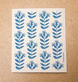 Three Bluebirds Swedish Dishcloth Buds Blue