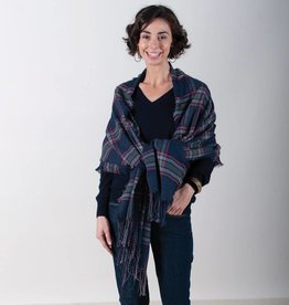 Rockflowerpaper Plaid Wrap Navy