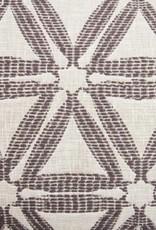 Kreatelier Delta Pillow in Charcoal - 14 x 22in