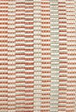 Kreatelier Stripe Pillow in Orange and Mint - 11 x 21in