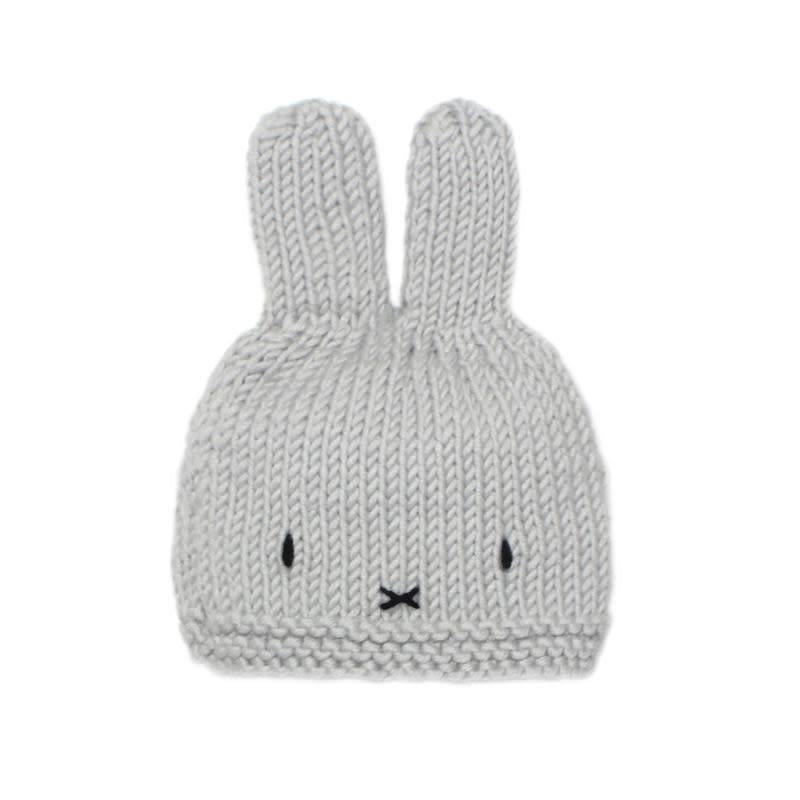 Miffy Baby Hat Dove Grey - Kreatelier