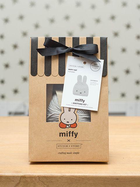 Stitch & Story Miffy Baby Hat Dove Grey