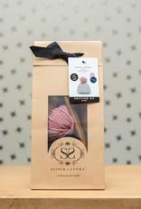 Stitch & Story Luca Pom Hat Navy and Pink