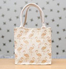 Rockflowerpaper Itsy Bitsy Bag Flamingos Gold