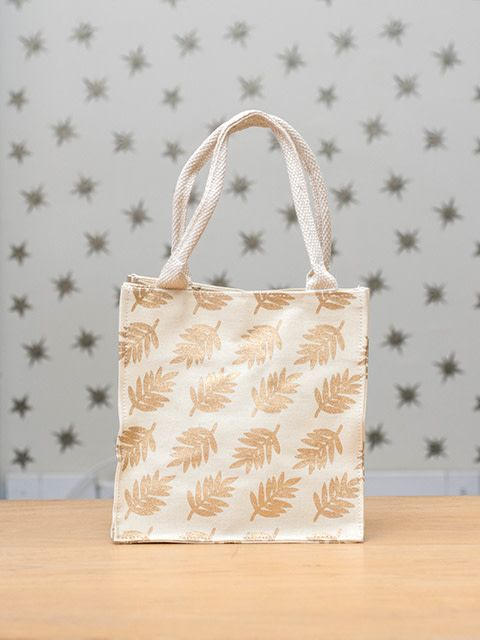 Itsy Bitsy Bag Leaves Gold Kreatelier