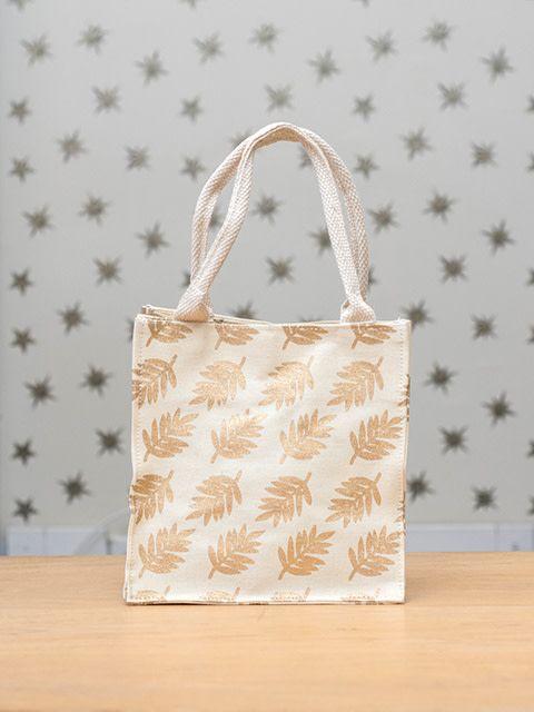 Rockflowerpaper Itsy Bitsy Bag Leaves Gold