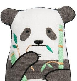 Kiriki Press DIY Embroidered Doll Kit Panda