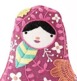 Kiriki Press DIY Embroidered Doll Kit Matryoshka