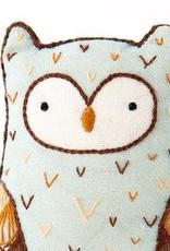 Kiriki Press DIY Embroidered Doll Kit Horned Owl