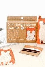 Kiriki Press DIY Embroidered Doll Kit Fox