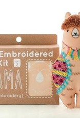 Kiriki Press DIY Embroidered Doll Kit Llama