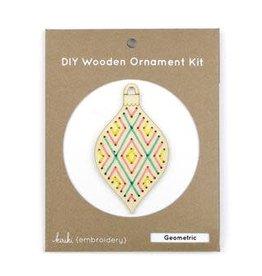 Kiriki Press DIY Wooden Ornament Kit Geometric