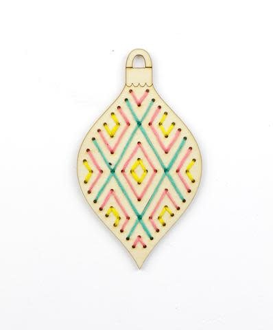 Kiriki Press DIY Wooden Ornament Kit Geometric