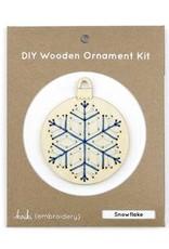 Kiriki Press DIY Wooden Ornament Kit Snowflake