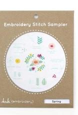 Kiriki Press DIY Embroidered Stitch Sampler Spring
