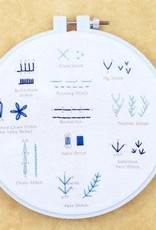 Kiriki Press DIY Embroidered Stitch Sampler Beginner
