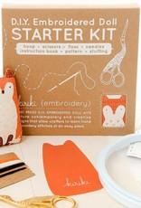 Kiriki Press DIY Embroidered Doll Starter Kit Bear
