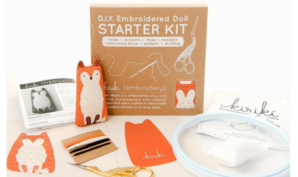 Kiriki Press DIY Embroidered Doll Starter Kit Elephant