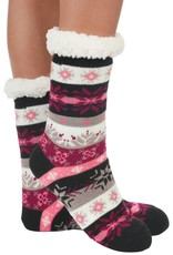 Snoozies Sherpa Lined Nordic Socks Pink