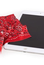 Kikkerland Microfiber Cleaning Cloth Bandana Red