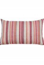 Kreatelier Stripe Velvet Pillow Colorful - 11 x 21in