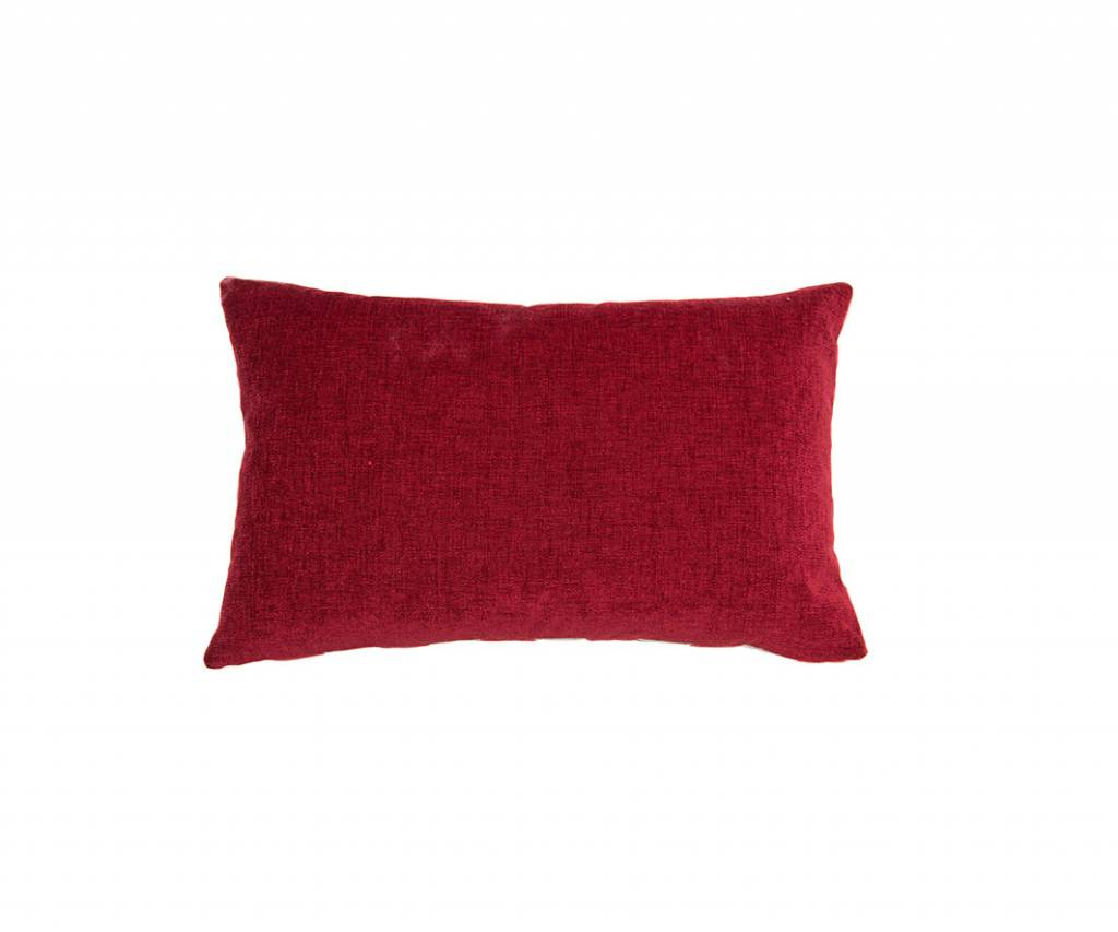 Kreatelier Dot Pillow in Red Mint Red Back Velvet - 14 x 22in