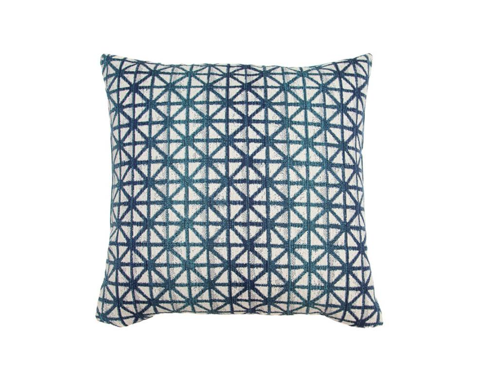 Kreatelier Bohemian Trellis Pillow in Blue - 18 X 18in