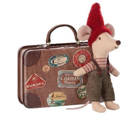 Maileg Mouse Christmas in Travel Suitcase