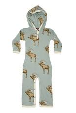 Milkbarn Bamboo Hooded Romper Moose