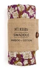 Milkbarn Bamboo Swaddle Rose Floral