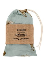 Milkbarn Bamboo Zipper Pajama Chrsms Birds