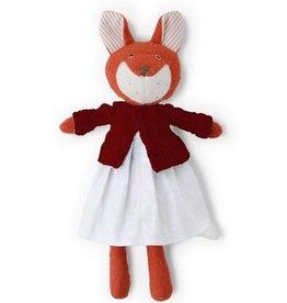 Hazel Village Stuffed Animal Flora Fox Linen Dress Sweater