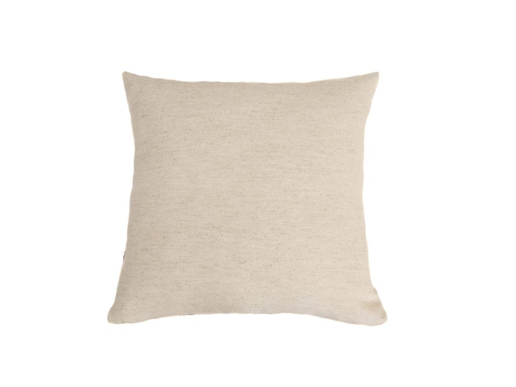 Kreatelier Embroidered Geo Pillow in Tan - 16 x 16in