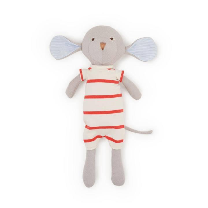 Hazel Village Stuffed Animal Oliver Mouse in Cozy Lodge Romper