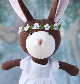 Hazel Village Stuffed Animal Zoe Rabbit in Spring Dress
