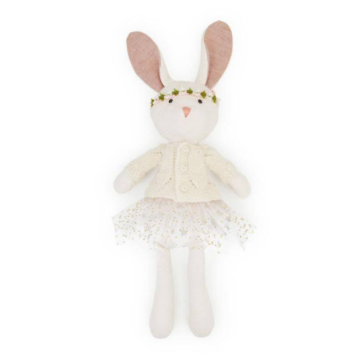 Hazel Village Stuffed Animal Penelope Rabbit in Sweater and Tutu Outfit