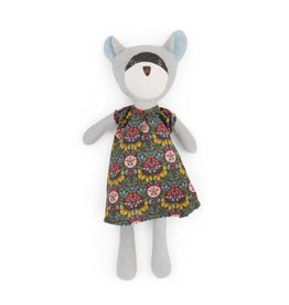Hazel Village Stuffed Animal Gwendolyn Raccoon in Tea Party Dress