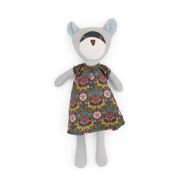 Hazel Village Stuffed Animal Gwendolyn Raccoon in Tea Party Dress