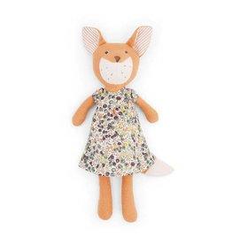 Hazel Village Stuffed Animal Flora Fox in Tea Party Dress